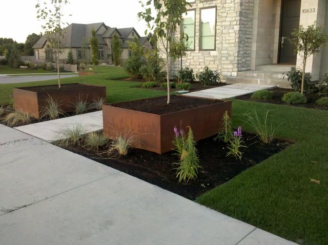 corten acél rozsdásítás kertépítés